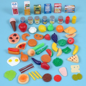 Children's Plastic Grocery Set (60 Pieces)