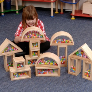 Children's ''Pom Pom'' Building Blocks (Set of 12)