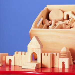 Children's ''City'' Wooden Building Blocks
