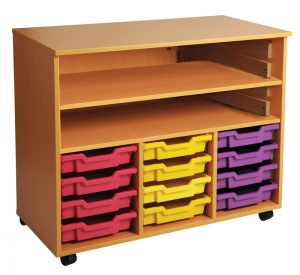 Triple Bay Art Tray Storage (12 Trays)