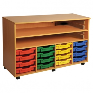 Four Bay Art Tray Storage (16 Trays)