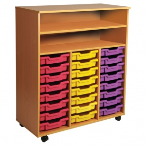 Triple Bay Art Tray Storage (24 Trays)