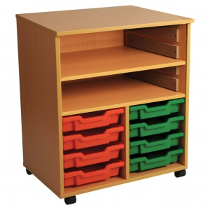 Double Bay Art Tray Storage (8 Trays)