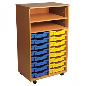 Double Bay Art Tray Storage (16 Trays)