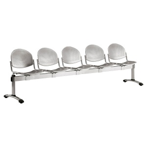 Dalby Metal Beam Seating - 5 Seater Flat Leg