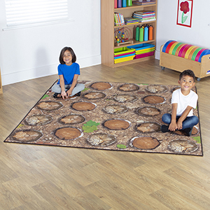 Woodland Double Sided Classroom Carpet