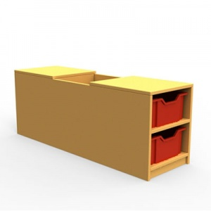 ''Curve'' Book Seat Storage (2 Trays High)