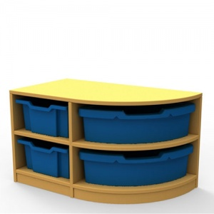 ''Curve'' Right-Hand Corner Storage (2 Trays High)