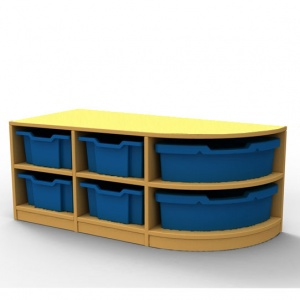 ''Curve'' Double Right-Hand Corner Storage (2 Trays High)