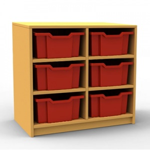 ''Curve'' Double Column Storage (3 Trays High)