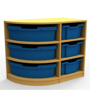 ''Curve'' Left-Hand Corner Storage (3 Trays High)