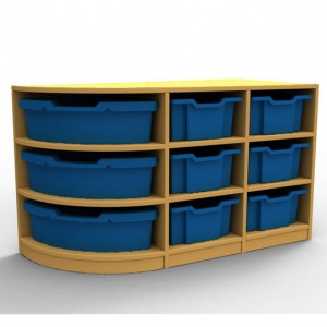 ''Curve'' Double Left-Hand Corner Storage (3 Trays High)