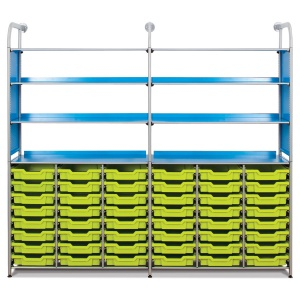 Callero Resources Store Extra + 48 Shallow Trays