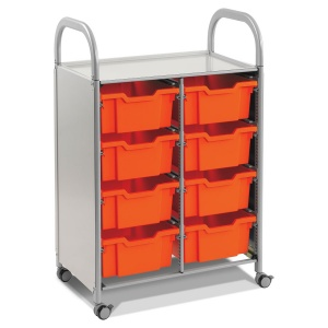 Callero Double Trolley + 8 Deep Trays
