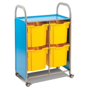 Callero Double Trolley + 4 Jumbo Trays