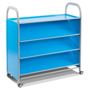 Callero Tilted Book Shelf Trolley