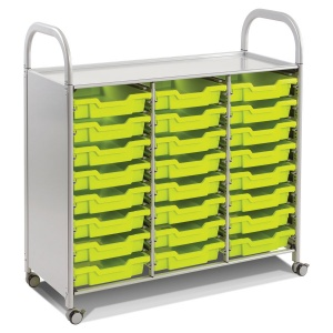 Callero Treble Trolley + 24 Shallow Trays