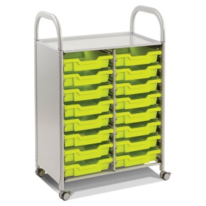 Callero Double Trolley + 16 Shallow Trays