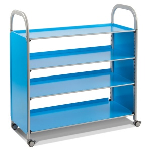 Callero Flat Book Shelf Trolley
