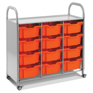 Callero Treble Trolley + 12 Deep Trays