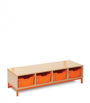 CLK002 Bubblegum Cloakroom Base With 4 Deep Trays
