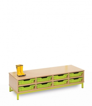 CLK004 Bubblegum Cloakroom Base With 8 Shallow Trays