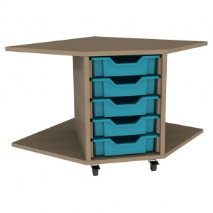 PSU5 5 Tray School Corner Storage