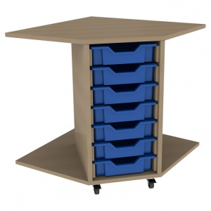 PSU7 7 Tray School Corner Storage