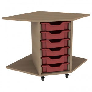 PSU6 6 Tray School Corner Storage