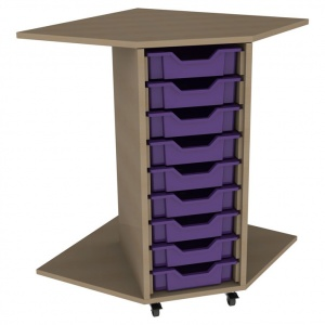 PSU9 9 Tray School Corner Storage