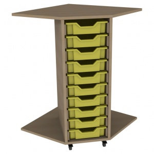 PSU10 10 Tray School Corner Storage