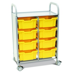 Callero Plus Double Trolley + 8 Deep Trays