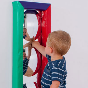 Children's 3 Bubbles Soft Frame Mirror