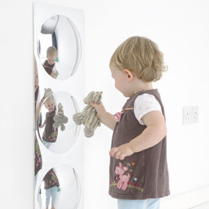 Children's 3 Giant Bubbles Fun Mirror