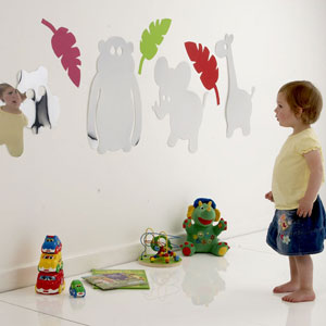 Children's Jungle Animal Safety Mirror (Pack of 4)