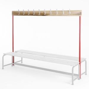 School Changing Room Single Sided Coatrail