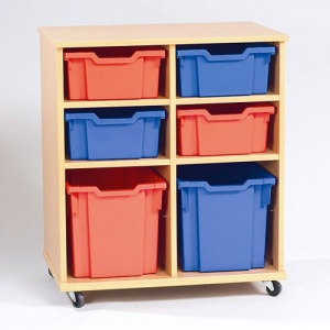 Yorkshire School Storage - 4 Deep, 2 Jumbo Tray