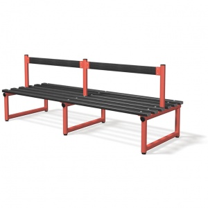 Probe Double Sided Cloakroom Bench + Backrest