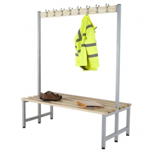 Budget KD Double Sided Cloakroom Hook Bench