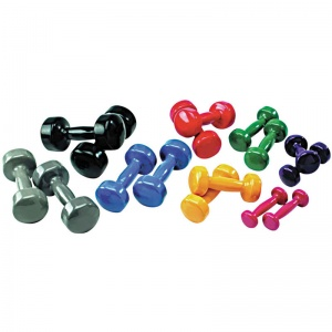 School Gym FitKit Vinyl Dipped Dumbbells