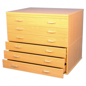 A1 Paper Storage (6 Drawers)