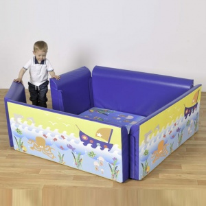 Children's Square Soft-Sided Den - Under the Sea