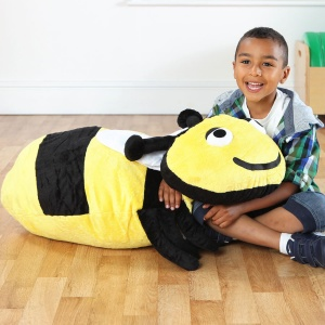 Back to Nature™ Buzz Bumble Bee Giant Floor Cushion