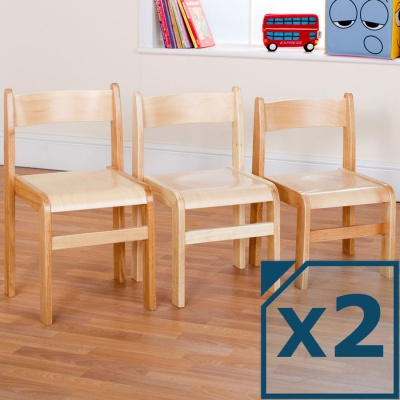 Tuf Class™ Wooden Chair Natural (Pack of 2)