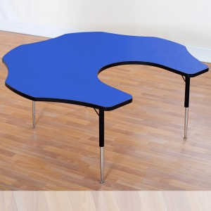 Tuf-Top™ Height Adjustable Teacher Flower Table - Blue