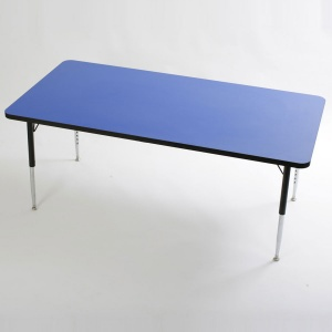 Tuf-Top™ Height Adjustable Rectangular Tables - Blue
