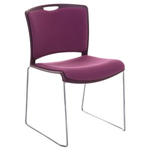 Jasper High-Density Stacking Chair + Seat & Back Pad