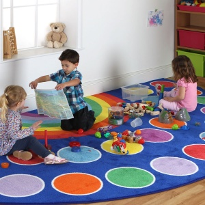 Rainbow™ Semi-Circle Placement Carpet