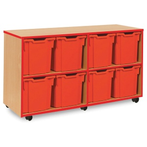 8 Jumbo Red Tray Store with Red Edging