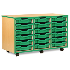 18 Shallow Green Tray Store with Green Edging